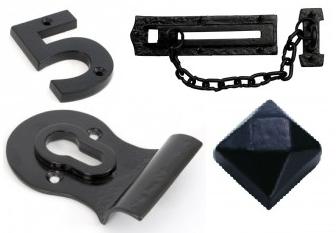 Black Numerals, Door Chains & Cylinder Pulls