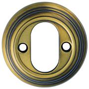 Oval Cylinder Escutcheons