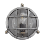Bulkhead Outdoor Light - Gunmetal Grey - Clear Glass