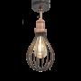 Industville Brooklyn Balloon Cage Flush Mount - Pewter - Copper Holder - 6 Inch