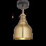 Industville Brooklyn Cone Flush Mount - Brass - Brass Holder - 7 Inch