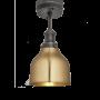 Industville Brooklyn Cone Flush Mount - Brass - Pewter Holder - 7 Inch
