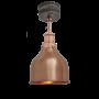 Industville Brooklyn Cone Flush Mount - Copper - Copper Holder - 7 Inch