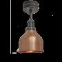 Industville Brooklyn Cone Flush Mount - Copper - Pewter Holder - 7 Inch