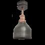 Industville Brooklyn Cone Flush Mount - Pewter - Copper Holder - 7 Inch