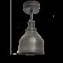 Industville Brooklyn Cone Flush Mount - Pewter - Pewter Holder - 7 Inch
