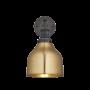 Industville Brooklyn Cone Wall Light - Brass - Pewter Holder - 7 Inch