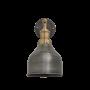 Industville Brooklyn Cone Wall Light - Pewter - Brass Holder - 7 Inch