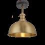 Industville Brooklyn Dome Flush Mount - Brass - Brass Holder - 8 Inch