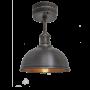 Industville Brooklyn Dome Flush Mount - Pewter & Copper - Pewter Holder - 8 Inch