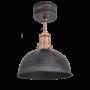 Industville Brooklyn Dome Flush Mount - Pewter - Copper Holder - 8 Inch