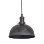 Industville Brooklyn Dome Pendant - Pewter - Pewter Holder - 8 Inch