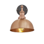 Industville Brooklyn Dome Wall Light - Copper - Copper Holder - 8 Inch