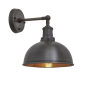 Industville Brooklyn Dome Wall Light - Pewter & Copper - Pewter Holder - 8 Inch