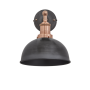 Industville Brooklyn Dome Wall Light - Pewter - Copper Holder - 8 Inch