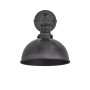 Industville Brooklyn Dome Wall Light - Pewter - Pewter Holder - 8 Inch