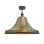 Industville Brooklyn Giant Bell Flush Mount - Brass - Pewter Holder - 20 Inch