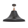 Industville Brooklyn Giant Bell Flush Mount - Pewter - Copper Holder - 20 Inch