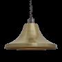 Industville Brooklyn Giant Bell Pendant - Brass - Pewter Chain Holder - 20 Inch