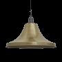 Industville Brooklyn Giant Bell Pendant - Brass - Pewter Holder - 20 Inch