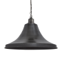 Industville Brooklyn Giant Bell Pendant - Pewter - Pewter Chain Holder - 20 Inch