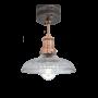 Industville Brooklyn Glass Dome Flush Mount - Copper Holder - 8 Inch