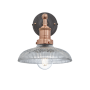 Industville Brooklyn Glass Dome Wall Light - Copper Holder - 8 Inch