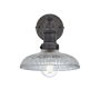 Industville Brooklyn Glass Dome Wall Light - Pewter Holder - 8 Inch