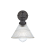 Industville Brooklyn Glass Funnel Wall Light - Pewter Holder - 7 Inch