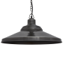 Industville Brooklyn Giant Step Pendant - Pewter - Pewter Chain Holder - 18 Inch