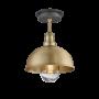 Industville Brooklyn Outdoor & Bathroom Dome Flush Mount - Brass - Brass Holder - 8 Inch