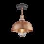 Industville Brooklyn Outdoor & Bathroom Dome Flush Mount - Copper - Copper Holder - 8 Inch