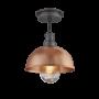 Industville Brooklyn Outdoor & Bathroom Dome Flush Mount - Copper - Pewter Holder - 8 Inch