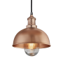 Industville Brooklyn Outdoor & Bathroom Dome Pendant - Copper - Copper Holder - 8 Inch