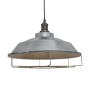 Industville Brooklyn Step Pendant - Light Pewter - Pewter Holder - Cage - 16 Inch