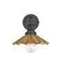Industville Brooklyn Umbrella Wall Light - Brass - Pewter Holder - 8 Inch