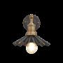 Industville Brooklyn Umbrella Wall Light - Pewter - Brass Holder - 8 Inch