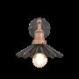 Industville Brooklyn Umbrella Wall Light - Pewter - Copper Holder - 8 Inch