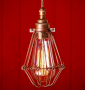 Bronze Cage Brown Cable Praia Industrial Light