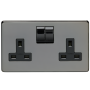 CBN Socket 2 Gang 13 Amp DP Switched