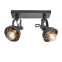 INDUSTVILLE SWIVEL DOUBLE SPOTLIGHT FLUSH MOUNT IMAGE 1