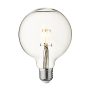 Industville Vintage LED Edison Bulb Old Filament Lamp - 5W E27 Globe G125 - Clear