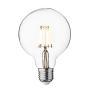 Industville Vintage LED Edison Bulb Old Filament Lamp - 5W E27 Small Globe G95 - Clear