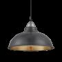 Industville Old Factory Pendant - Pewter & Brass - Light Pewter Holder - 12 Inch