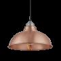 Industville Old Factory Pendant - Copper - Light Pewter Holder - 12 Inch