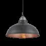 Industville Old Factory Pendant - Pewter & Copper - Light Pewter Holder - 12 Inch