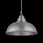 Industville Old Factory Pendant - Light Pewter - Light Pewter Holder - 12 Inch