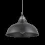Industville Old Factory Pendant - Pewter - Light Pewter Holder - 12 Inch