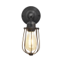 Industville Orlando Wire Cage Wall Light - Pewter - 4 Inch