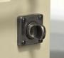FINESSE PEWTER JESMOND SQUARE THUMB TURN & RELEASE ON DOOR
